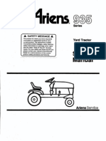 Ariens yt12 owners manual