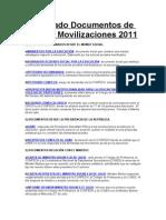 Compilado Documentos de Interés  Movilizaciones 2011