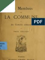 Les Membres de la Commune et du Comité Central (Paul Delion, 1871)