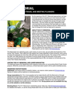 9-11 Memorial Fact Sheet
