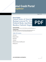 Standard and Poor Down Grade of US Credit Rating 2011