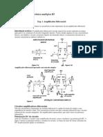 Laboratório 1 amplificadores diferenciais