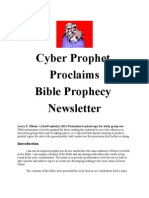 Cyber Prophet Bible Prophecy Newsletter