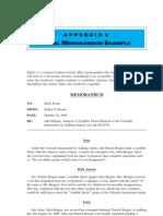 Appendix 6 Memo Sample
