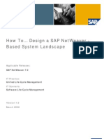 How to Design a SAP Netweaver Based System Landscape