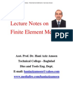 Lecture Notes on Finite Element Method- Hani Aziz Ameen