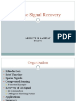 Sparse Signal Recovery