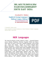 Linguistic Situation, Multilingualism and Lg Endangerment in NE India