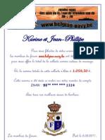 Lettre pour le mariage de Karine et Jean-Philippe