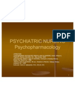 Psychiatric Nursing - Psycho Pharmacology