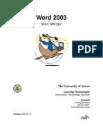 Mail Merge 2003