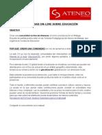 COMUNIDAD ON-LINE SOBRE EDUCACIÓN