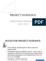 Orientation-project Guidance Presentation