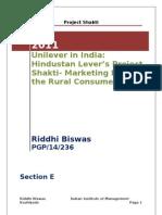 Riddhi Biswas 236 E Section HUL Shakti