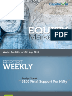 Stock Market Reports for the Week (8th - 12th August '11)