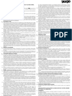 Condiciones de contrato de Yoigo (penalización de permanencia)