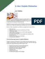 Penyebab Dan Gejala Diabetes