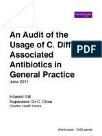 An Audit of the Usage of C. Difficile Associated Antibiotics in General Practice