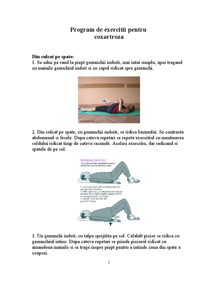 Coxartroza exercitii de mobilitate