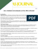 IEA 2012 Refining Forecast