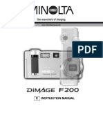 Dimage F200 Manual ENG