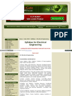 Www One Stop Gate Com Gate 2008 Syllabus Electrical Engineer In