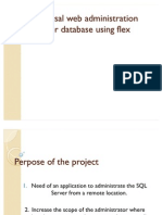 Universal Web Administration Tool for Database Using Flex