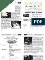 Programma Di Sala Concerto Folgaria 7 Agosto 2011