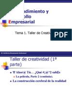 Tema 1. Taller de Creatividad