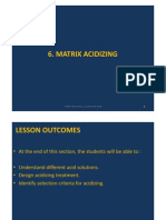 6. Matrix Acidizing