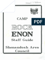 1993 Camp Rock Enon Staff Guide