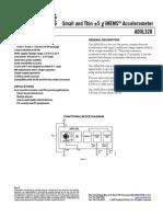 ADXL320 acelerómetro
