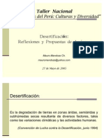 Desertificación - Reflexiones y propuestas de acción