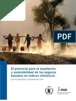 El potencial para la ampliación y sostenibilidad de los seguros basados en índices climáticos