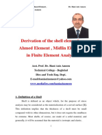 Derivation of the Shell Element , Ahmed Element , Midlin Element in Finite Element Analysis- Hani Aziz Ameen