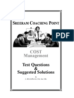 Cost Management Test Questions and Suggested Solutions