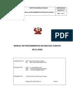MANUAL PROCEDIMIENTOS ENSAYOS CLÍNICOS PERU
