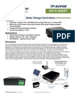 TP-SCPOE Charge Controller Spec Sheet