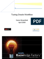 Tuning Oracle Work Flow