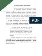 ANTECEDENTES DE LA INVESTIGACIÓN
