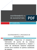 Mantenimiento a Procesos de Manufactura
