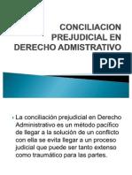 Conciliacion Prejudicial en Derecho Admistrativo