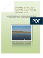 Master Rev 7-27 Sandia Wetlands Restoration Project Description