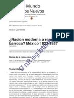 ¿Nacion moderna o república barroca_ México 1823-1857