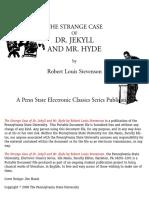 The Strange Case of Dr. Jekyll and Mr. Hyde - Stevenson