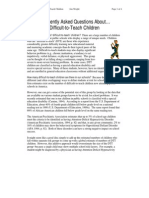 Frequently Asked Questions About… Difficult-to-Teach Children - Jim Wright