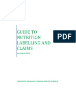 Guide to Nutrition Labelling and Claims 2010