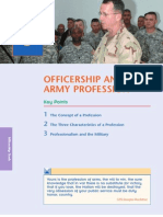 MSL 101 L07 Officer Ship and the Army Profession