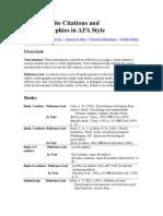 APA Referencing & Citations