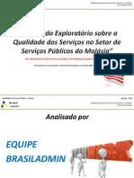 Estudo sobre artigo - Qualidade do Serviço Público na Malásia